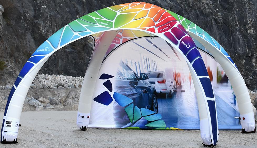 X- GLOO aufblasbares Eventzelt und Faltzelt. Für Promotion, Events, Messen und am POS.