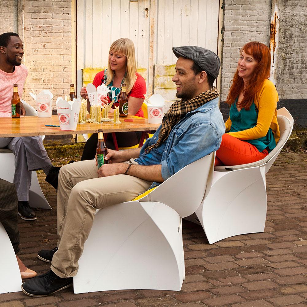flux faltbare Designer Möbel für Events, Gastronomie, Messen und Promotion.