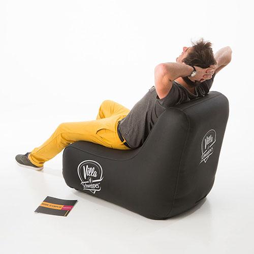 UNC aufblasbare Design Möbel für ihr Event. Pneumatisch, leicht, robust und gemütlich.